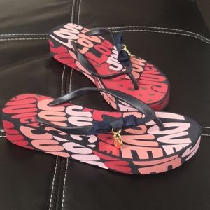 Juicy Couture platform flip flops